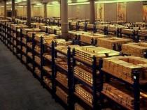 gold_treasury Kazna bullions of precious metals Currently Bank of England vault