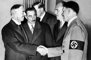 Adolph Hitler         and     Neville Chamberlain