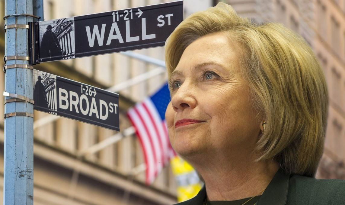 США: банки Уолл-стрит выбрали Хиллари Клинтон